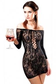 Платье сетка Anne De Ales FETISH DINNER Black, XL