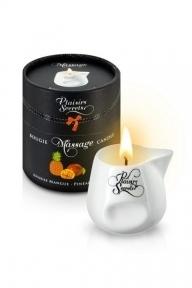 Массажная свеча Plaisirs Secrets Pineapple Mango, 80 мл