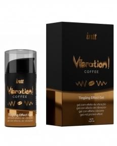 Жидкий вибратор Intt Vibration Coffee, 15 мл, густой гель, очень вкусный, действует до 30 минут (SO3511)