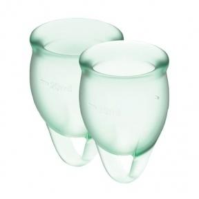 Набор менструальных чаш Satisfyer Feel Confident (light green), 15 мл и 20 мл (SO3579)