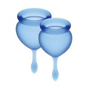 Набор менструальных чаш Satisfyer Feel Good (dark blue), 15 мл и 20 мл (SO3582)