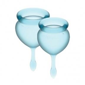 Набор менструальных чаш Satisfyer Feel Good (light blue), 15 мл и 20 мл (SO3584)
