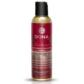 Массажное масло DONA Kissable Massage Oil Strawberry Souffle, 110 мл