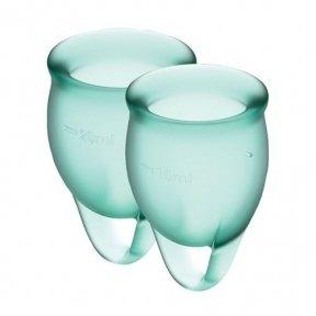 Набор менструальных чаш Satisfyer Feel Confident (dark green), 15 мл и 20 мл (SO3577)