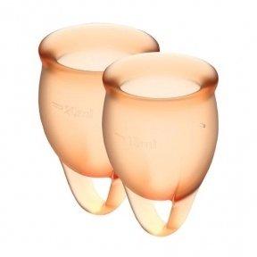 Набор менструальных чаш Satisfyer Feel Confident (orange), 15 мл и 20 мл (SO3581)