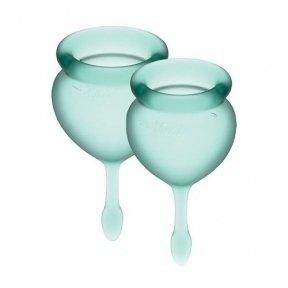 Набор менструальных чаш Satisfyer Feel Good (dark green), 15 мл и 20 мл (SO3583)