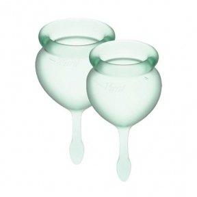 Набор менструальных чаш Satisfyer Feel Good (light green), 15 мл и 20 мл (SO3585)