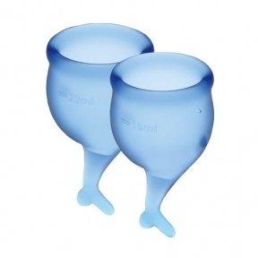 Набор менструальных чаш Satisfyer Feel Secure (dark blue), 15 мл и 20 мл (SO3588)