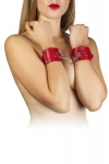 Наручники Leather Dominant Hand Cuffs, red (280152)