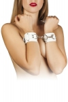 Наручники Leather Dominant Hand Cuffs, white (280153)