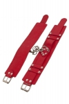 Оковы Leather Dominant Leg Cuffs, red (280155)
