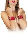 Наручники Leather Restraints Hand Cuffs, red (280158)