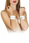 Наручники Leather Restraints Hand Cuffs, white (280159)