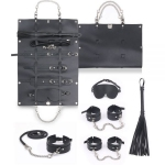 Набор для БДСМ игр BDSM-NEW PVC Bondage Set, black (281326)