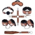 Набор для БДСМ игр BDSM-NEW PVC Snakeskin Bondage Set, brown (281328)