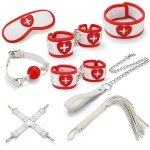 Набор для БДСМ игр BDSM-NEW PVC Nurse Bondage Set, white (281327)